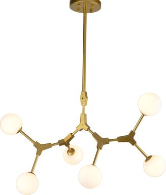Asplund Circle Gold Chandelier