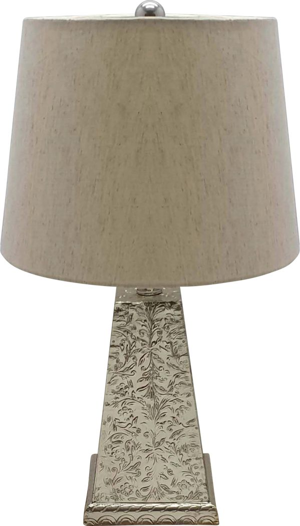 Aster Avenue Silver Lamp