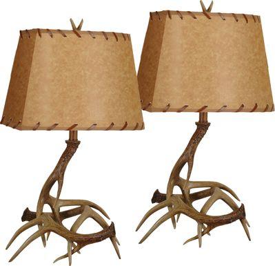 Aster Ridge Brown Set of 2 Lamps