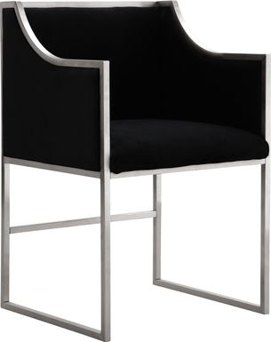 Atara Black Accent Chair