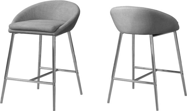 Athlone Gray Counter Height Stool (Set of 2)
