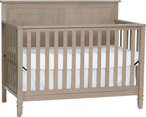 Atley Gray Convertible Crib with Toddler Rail