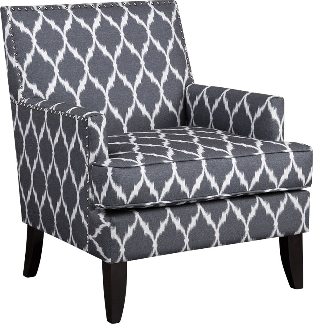 Aubinwood Gray Pattern Accent Chair