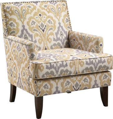 Aubinwood Yellow Accent Chair