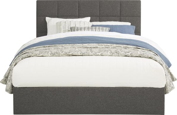 Aubrielle Gray 3 Pc Queen Square Upholstered Bed