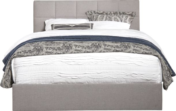 Aubrielle Sand 3 Pc King Square Upholstered Bed