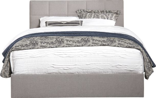 Aubrielle Sand 3 Pc Queen Square Upholstered Bed