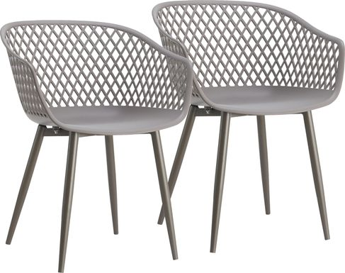 Auraria Gray Outdoor Arm Chair, Set of 2