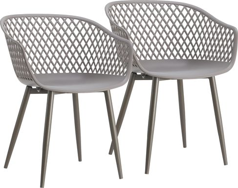 Auraria Gray Outdoor Arm Chair, Set of 2