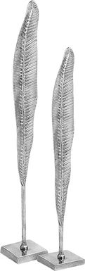Avanni Silver Sculptures Set of 2