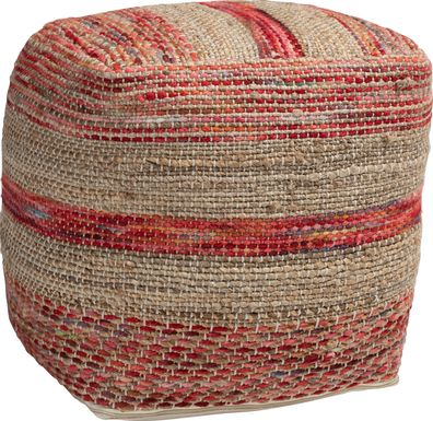 Avenel Court Natural Pouf