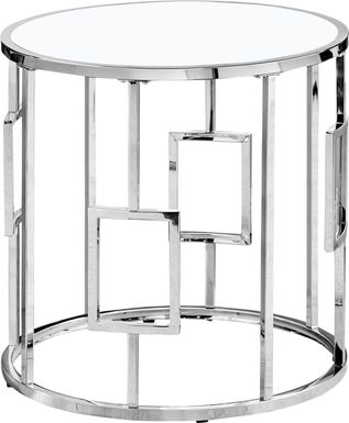 Averhoff Chrome Accent Table