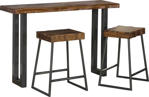 Aviemore Brown 3 pc. Sofa Table Set