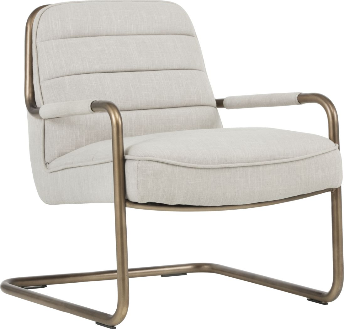 Avinyo Beige Accent Chair
