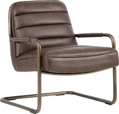 Avinyo Brown Accent Chair