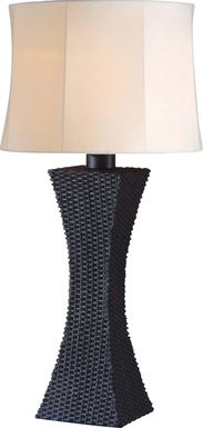 Avon Island  Black Outdoor Table Lamp