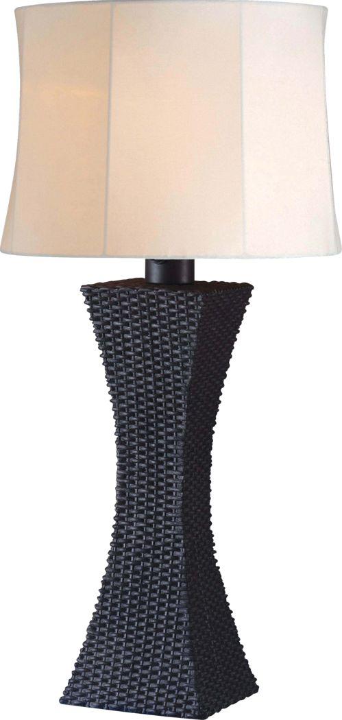 Avon Island  Black Outdoor Table Lamp