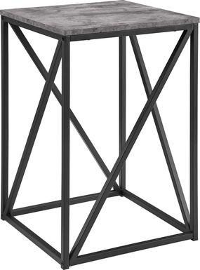 Avondale Circle Dark Gray Accent Table