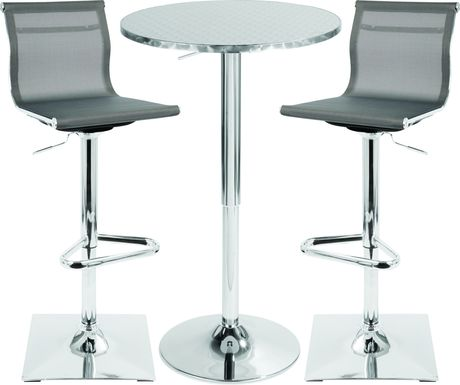Avrum Gray 3 Pc Bar Height Dining Set