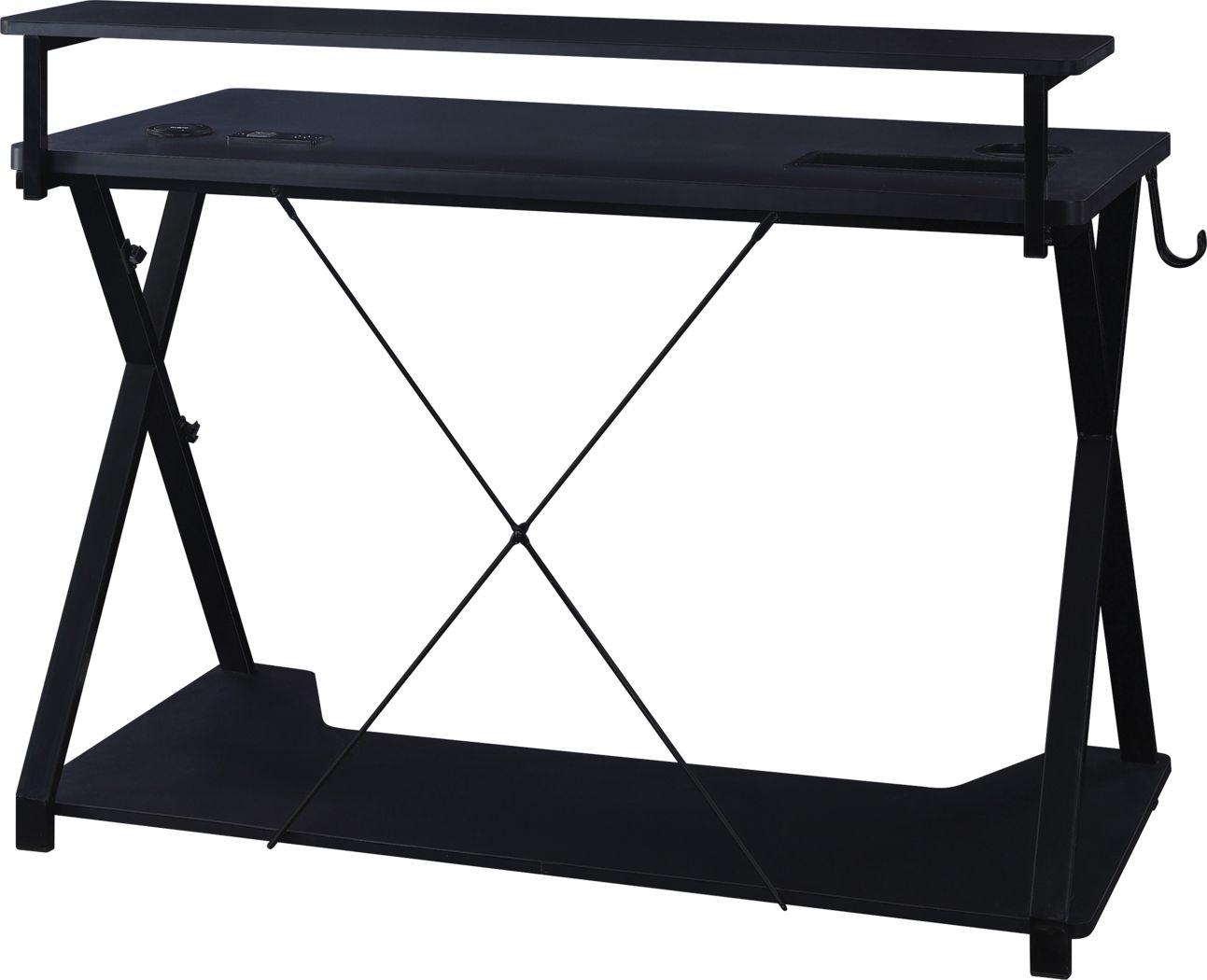 Axyon Black Gaming Desk