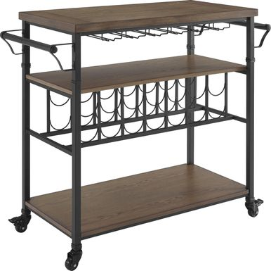 Aylesford Brown Bar Cart