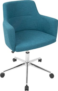 Aymard Blue Office Chair