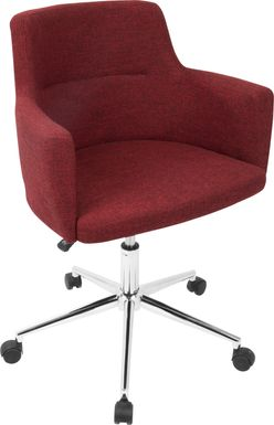 Aymard Red Office Chair