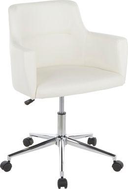 Aymard White Office Chair