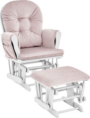 Baby Cache Coletta Pink Glider and Ottoman