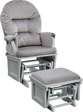 Baby Cache Faolan Light Gray Glider and Ottoman