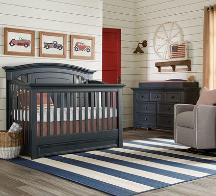 Baby Cache Harborbridge Navy 4 Pc Nursery