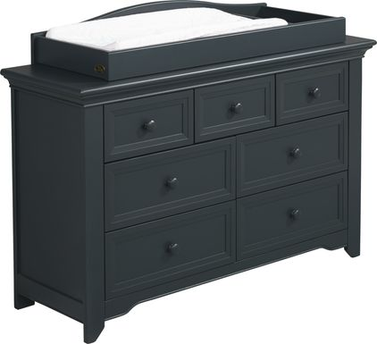 Baby Cache Harborbridge Navy Dresser with Changing Topper and Pad