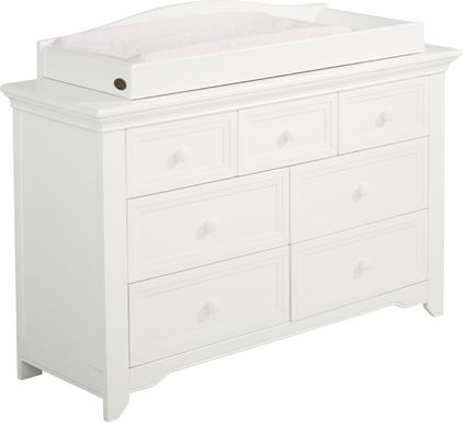 Baby Cache Harborbridge White Dresser with Changing Topper and Pad