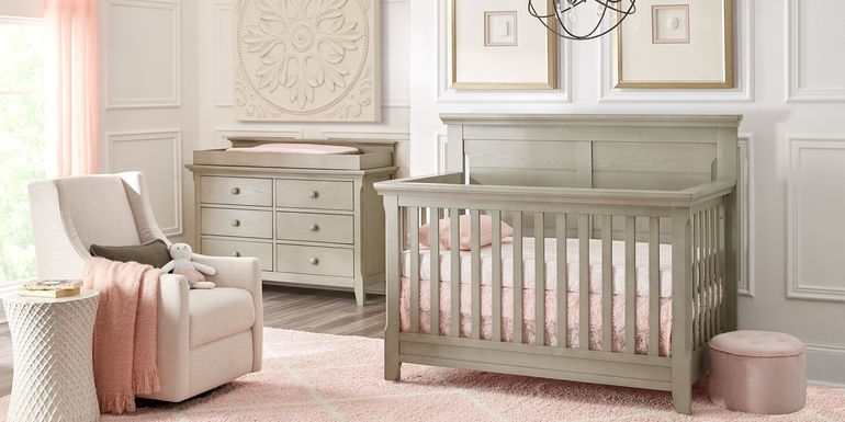 Baby Cache Overland Point Gray 5 Pc Nursery with Toddler Rails