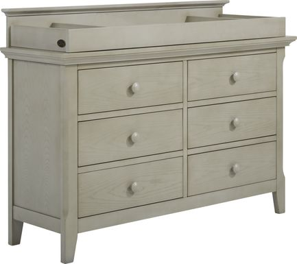 Baby Cache Overland Point Gray Dresser with Changing Topper and Pad