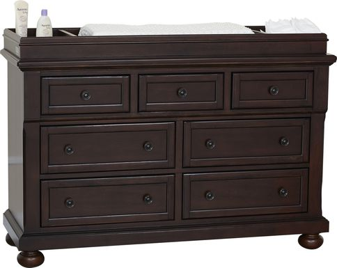 Baby Cache Prestcott Rosewood Dresser with Changing Topper and Pad