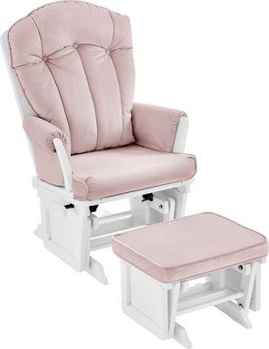 Baby Cache Vanya Pink Glider and Ottoman