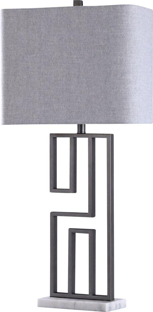 Baja Point Silver Lamp