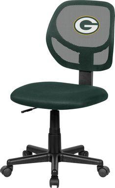 Ball Hacker NFL Green Bay Packers Green Office Chair