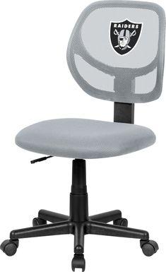 Ball Hacker NFL Las Vegas Raiders Gray Desk Chair