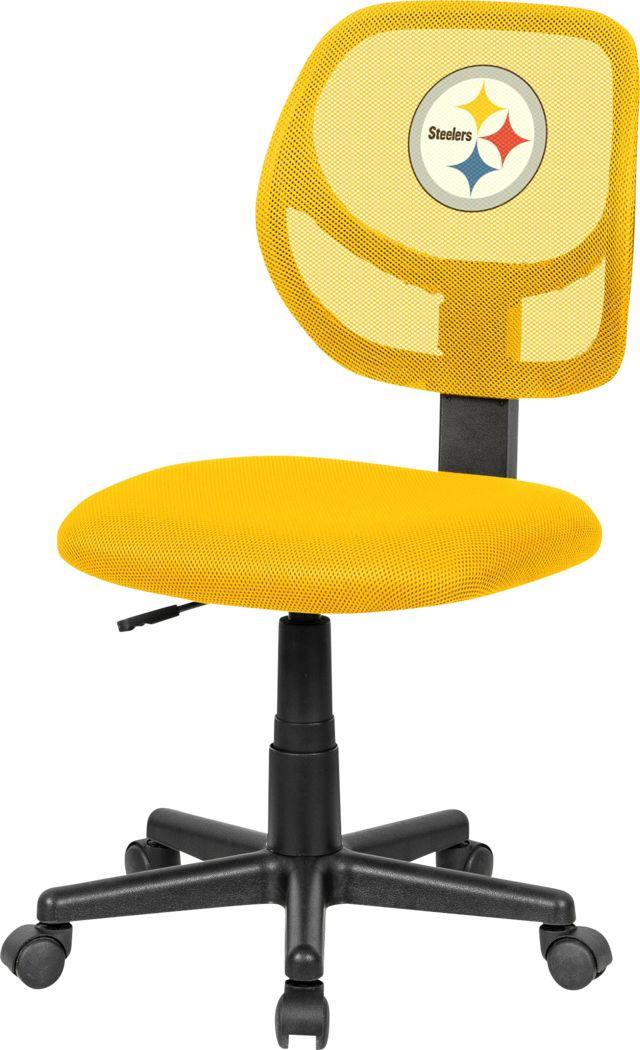 Ball Hacker NFL Pittsburgh Steelers Yellow Desk Chair