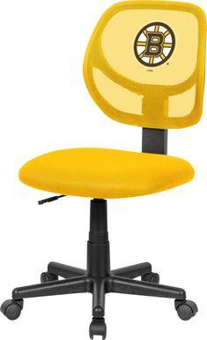 Ball Hacker NHL Boston Bruins Yellow Desk Chair