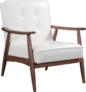 Ballencia White Accent Chair