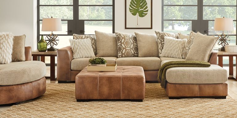 Ballinger Beige 3 Pc Sectional Living Room