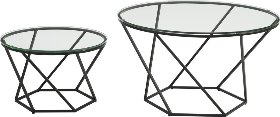 Ballonnes Black Nesting Tables