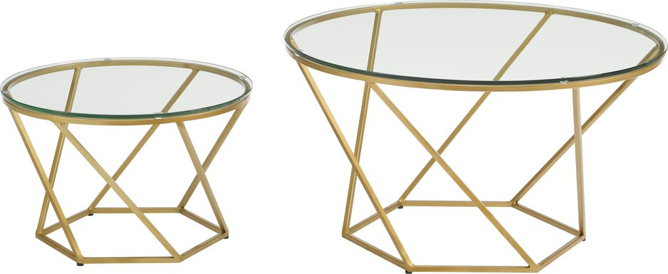 Ballonnes Gold Nesting Tables