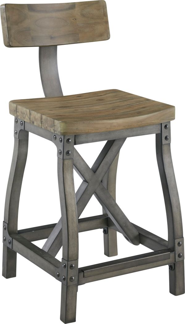 Ballybunion Oak Counter Height Stool