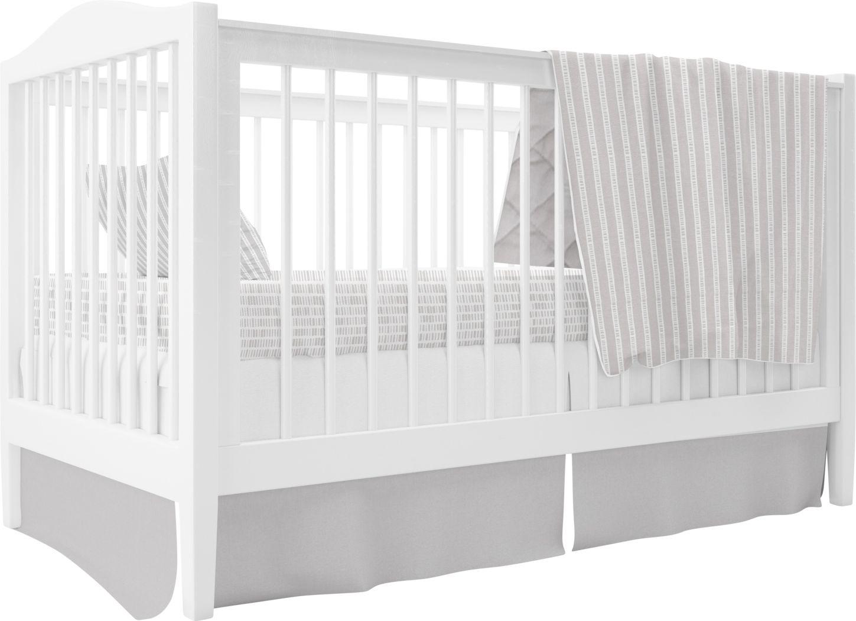 Bamboo Burrow Gray 3 Pc Baby Bedding Set
