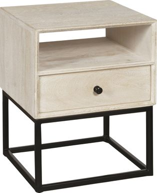Bamwood White Side Table