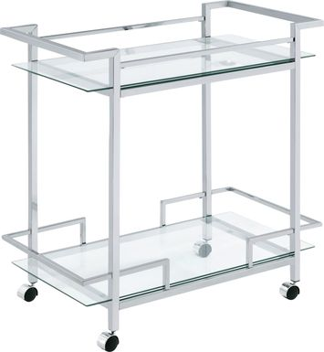 Banofax Silver Bar Cart